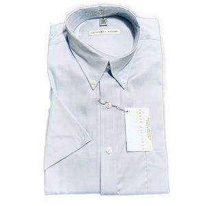 Geoffrey Beene Blue Half Sleeve Dress Shirt 16
